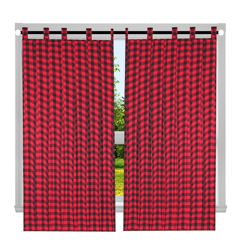 """Tartan Plaid,Window Curtain 40""""W x 63""""L"""