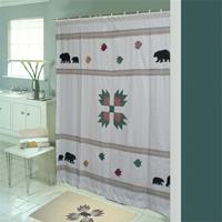 """Bear's Paw cz Shower Curtain 72""""W x 72""""L"""