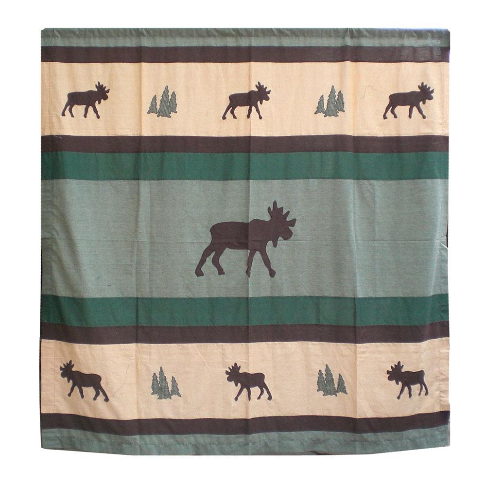"""Cedar Trail cz Shower Curtain 72""""W x 72""""L"""