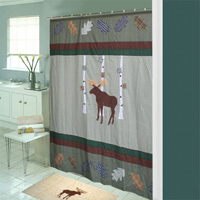 "Moose,Cool Shower Curtain 72""w x 72""l"