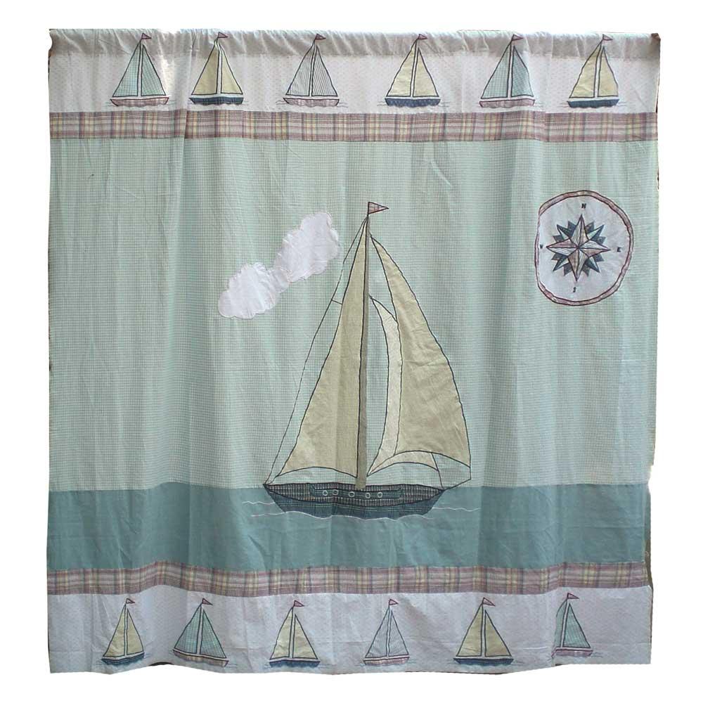 """Nautical Drift Shower Curtain 72""""W x 72""""L"""