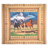 "Wild Horses King Duvet Cover 108""W x 98""L"