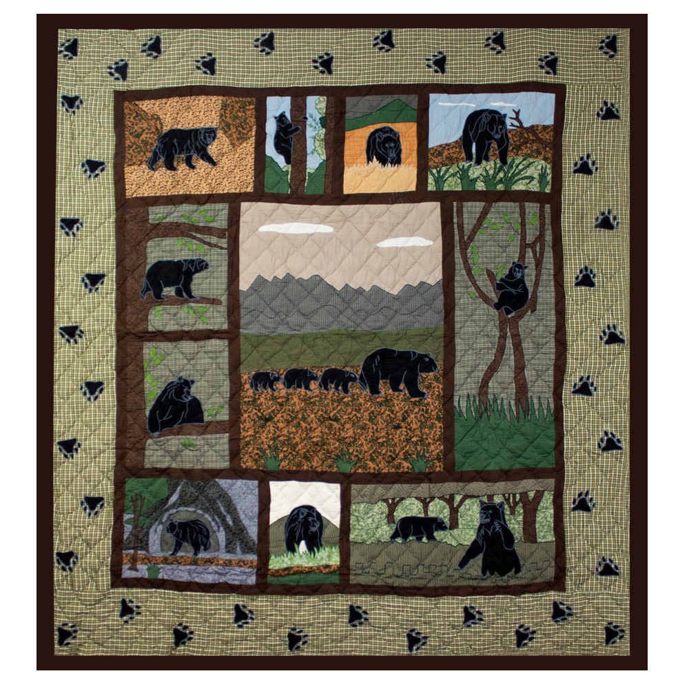 "Bear Country Twin Duvet Cover 70""W x 88""L"