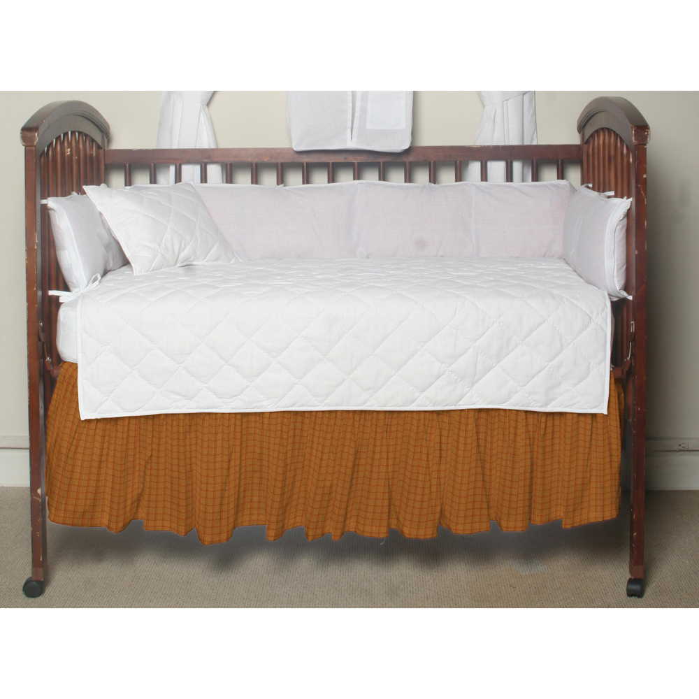 "Kokoepelli Golden Rod Plaid (w094a) Crib Bed Skirt 28"" x 53""-Drop-13"""