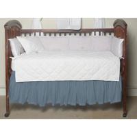 "Light Blue Denim Chambray(w115a) Crib Bed Skirt 28"" x 53""-Drop-13"""