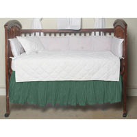 """Green Check Plaid With White (w139a) Crib Bed Skirt 28"""" x 53""""-Drop-13"""""""