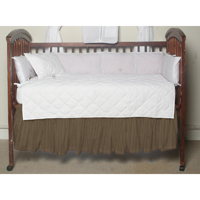 "Olive Green and Tan Stripes (w379a) Crib Bed Skirt 28"" x 53""-Drop-13"""