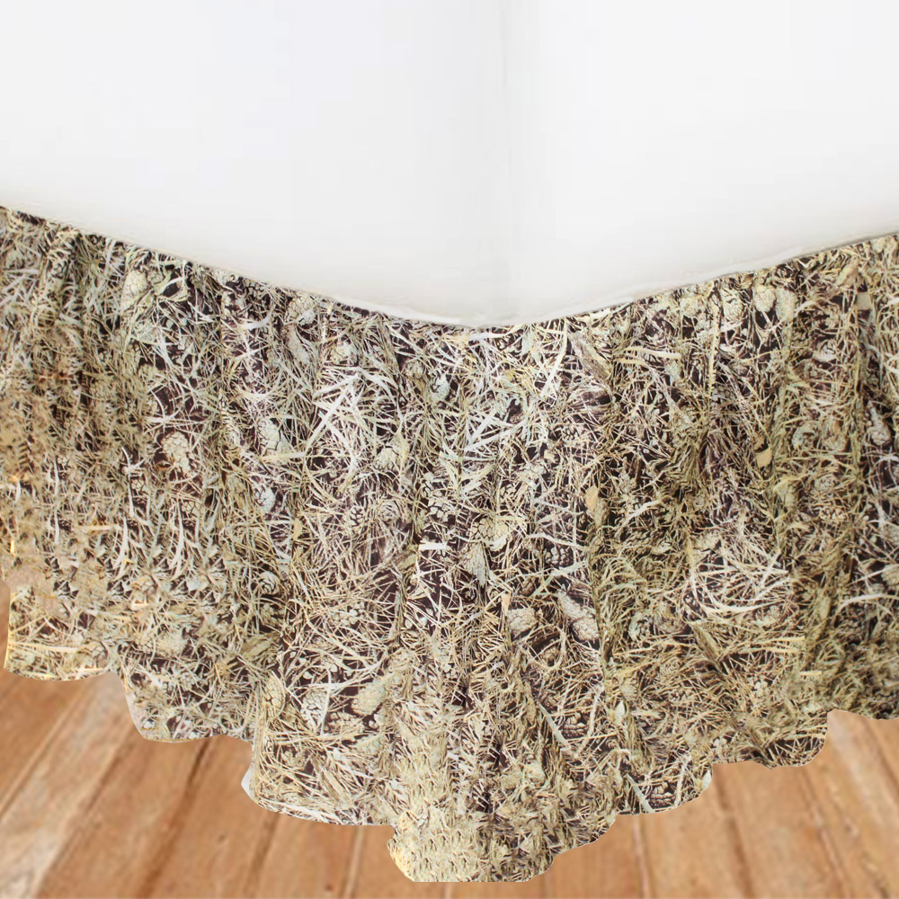 "Forest Floor Bed Skirt Luxury King Size 76""W x 80""L-Drop 20"""