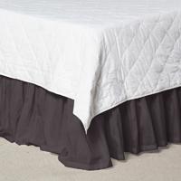 "Black Solid Bed Skirt Twin Size 39""W x 76""L-Drop-18"""