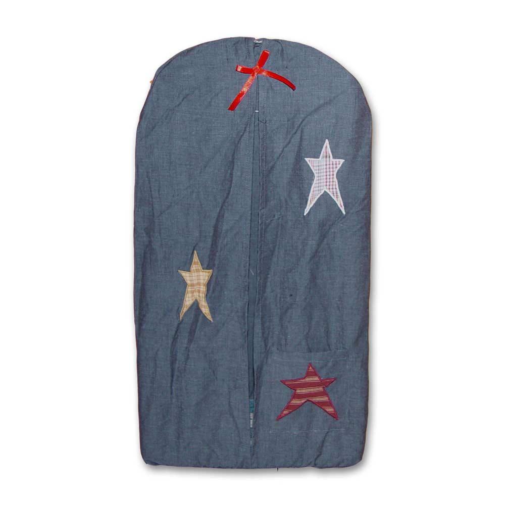 "Homespun Stars Diaper Stacker 12""W x 23""L"