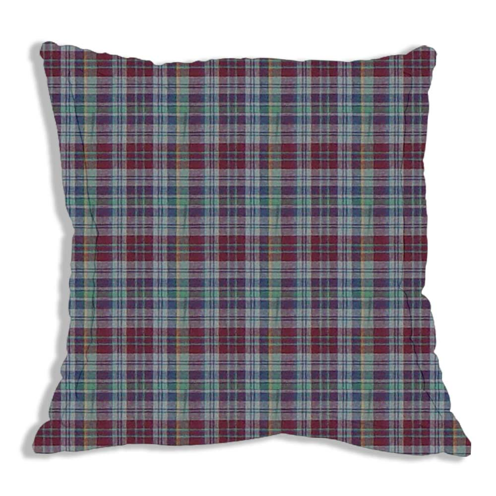 "Burgundy Plaid Euro Sham 26""W x 26""L Regular"