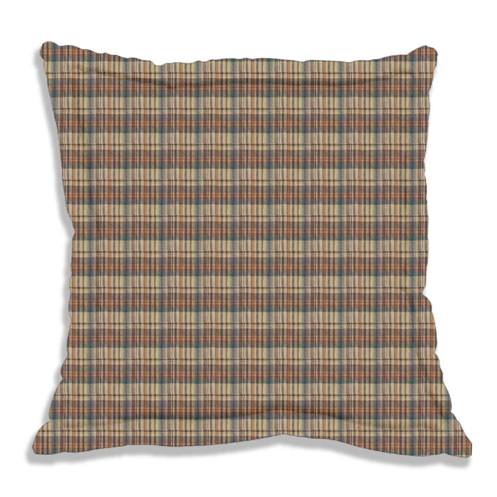 "Rustic Red and Tan Check Plaid Euro Sham 26""W x 26""L Regular"
