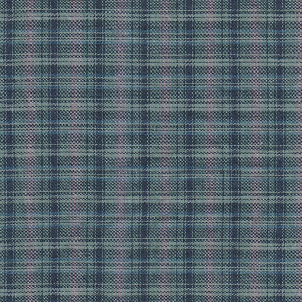 Navy & light blue plaid fabrics by the yard