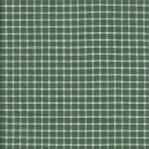 Green checks with white fabrics by the yard