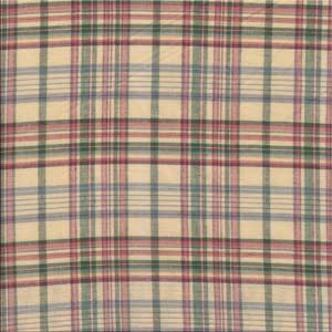 Cream plaid fabrics by the yard
