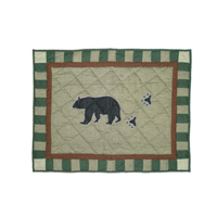 "Bear Trail king sham 31""w x 21""l"