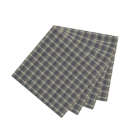 "Blue Black Grey Plaid Fabric Napkin 20""W x 20""L"