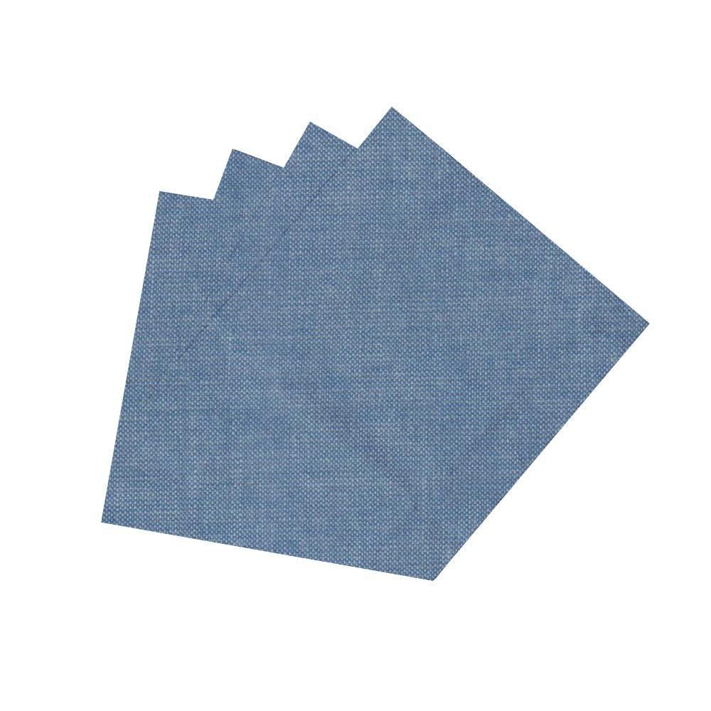 "Light Blue Denim Chambray napkin 20""w x 20""l"