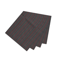 "Black and Maroon Stripe Fabric Napkin 20""W x 20""L"