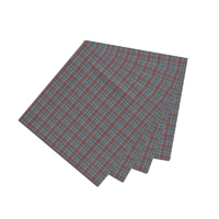 "Burgundy Plaid Fabric Napkin 20""W x 20""L"