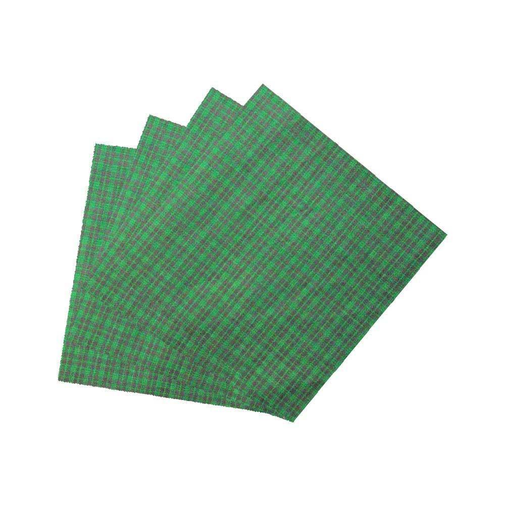 """Green and Black Mini Check Fabric Napkin 20""""W x 20""""L"""