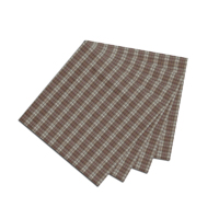 "Light Brown Mini Check Fabric Napkin 20""W x 20""L"