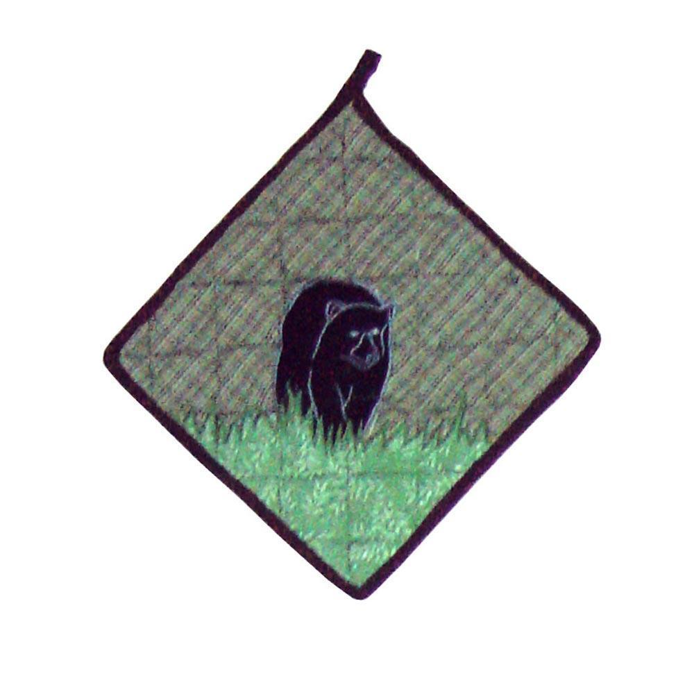 "Bear Country Pot Holder 8""W x 8""L"