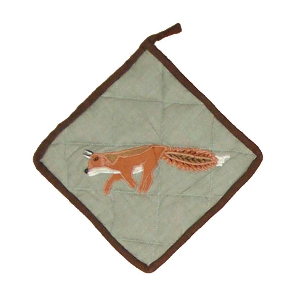 "Fox Hunt Pot Holder 8""W x 8""L"