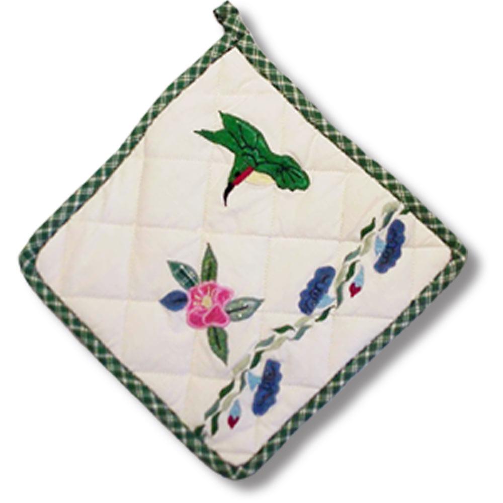 """Hummingbird Pot Holder 8""""W x 8""""L"""