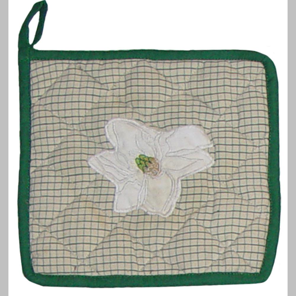 """Magnolia Blossoms Pot Holder 8""""W x 8""""L"""