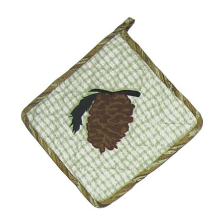 "Pinewood Pot Holder 8""W x 8""L"