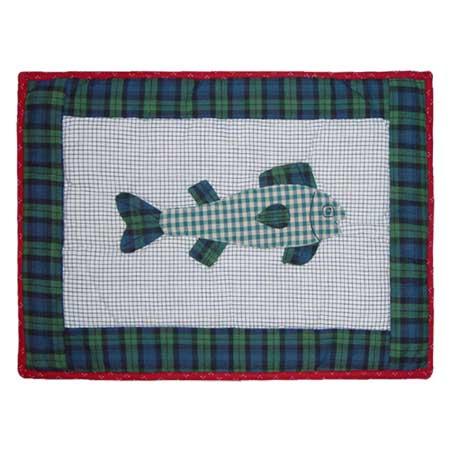 """Cabin fish Place Mat 13""""W x 19""""L"""