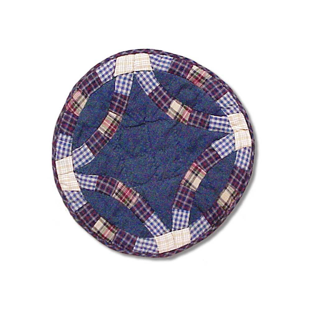 """Blue Double Wedding Ring Place Mat 13""""W x 19""""L"""