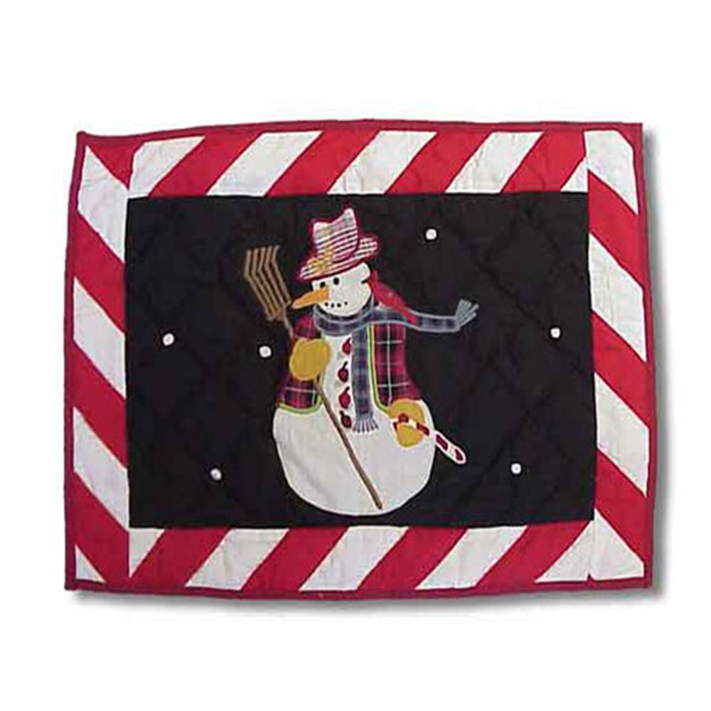 "Frosty Snowman Place Mat 13""W x 19""L"