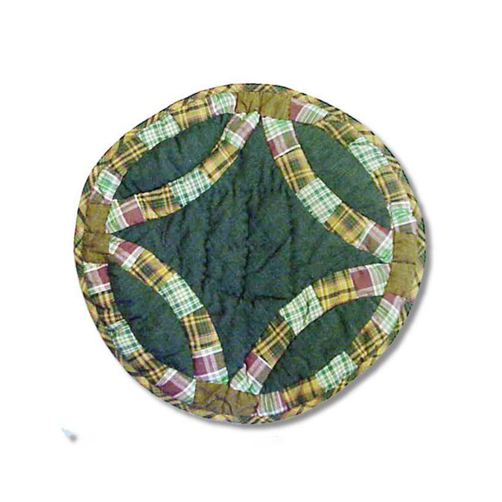"""Green Double Wedding Ring Place Mat 13""""W x 19""""L"""