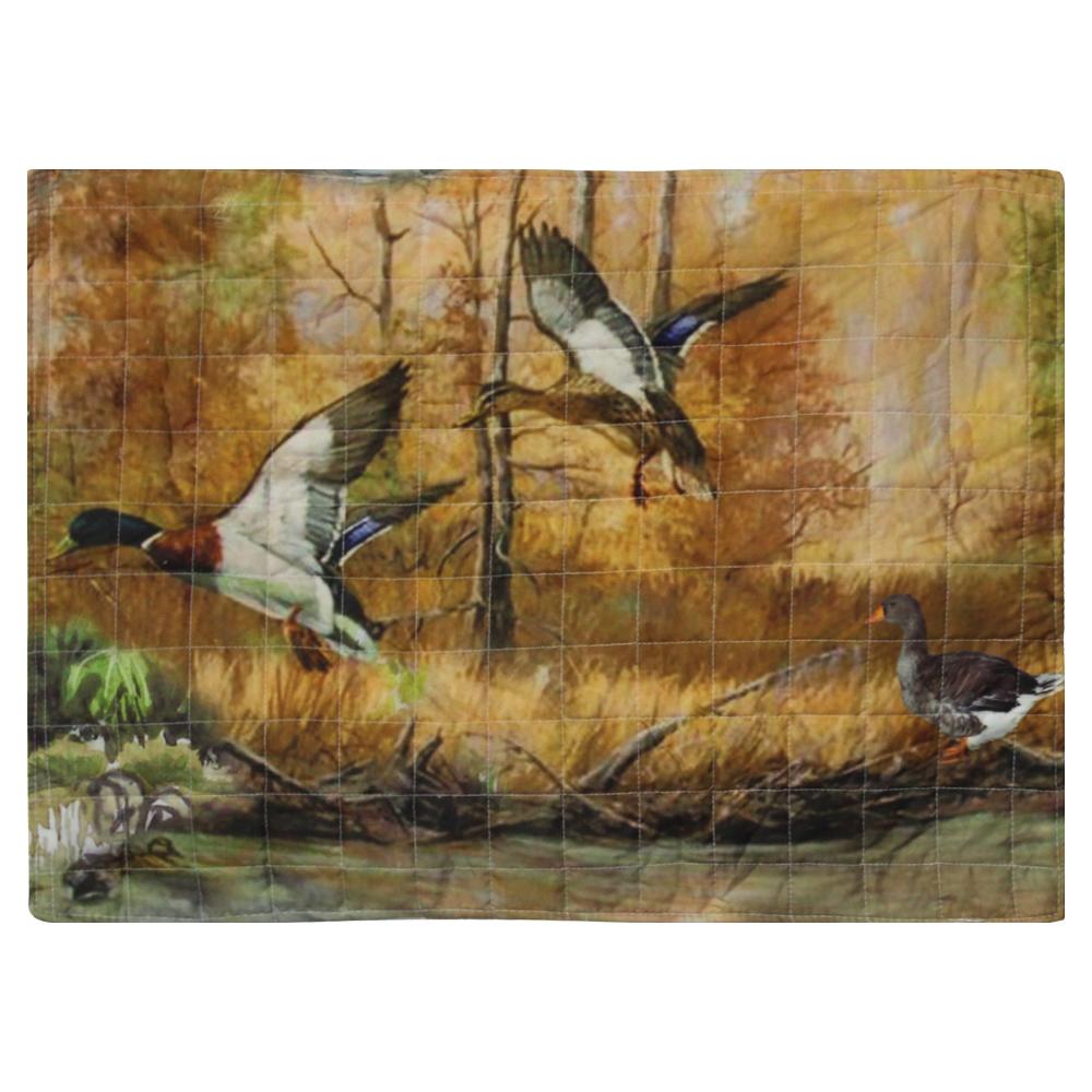 """Ducks Galore, Flying Mallards Pillow Sham 27""""W x 21""""L"""