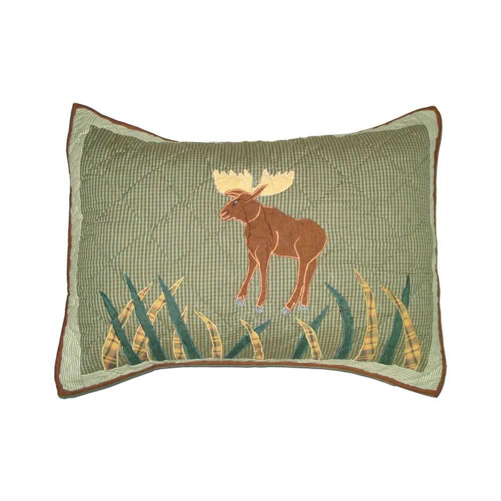 """Moose Pillow Sham 27""""W x 21""""L"""