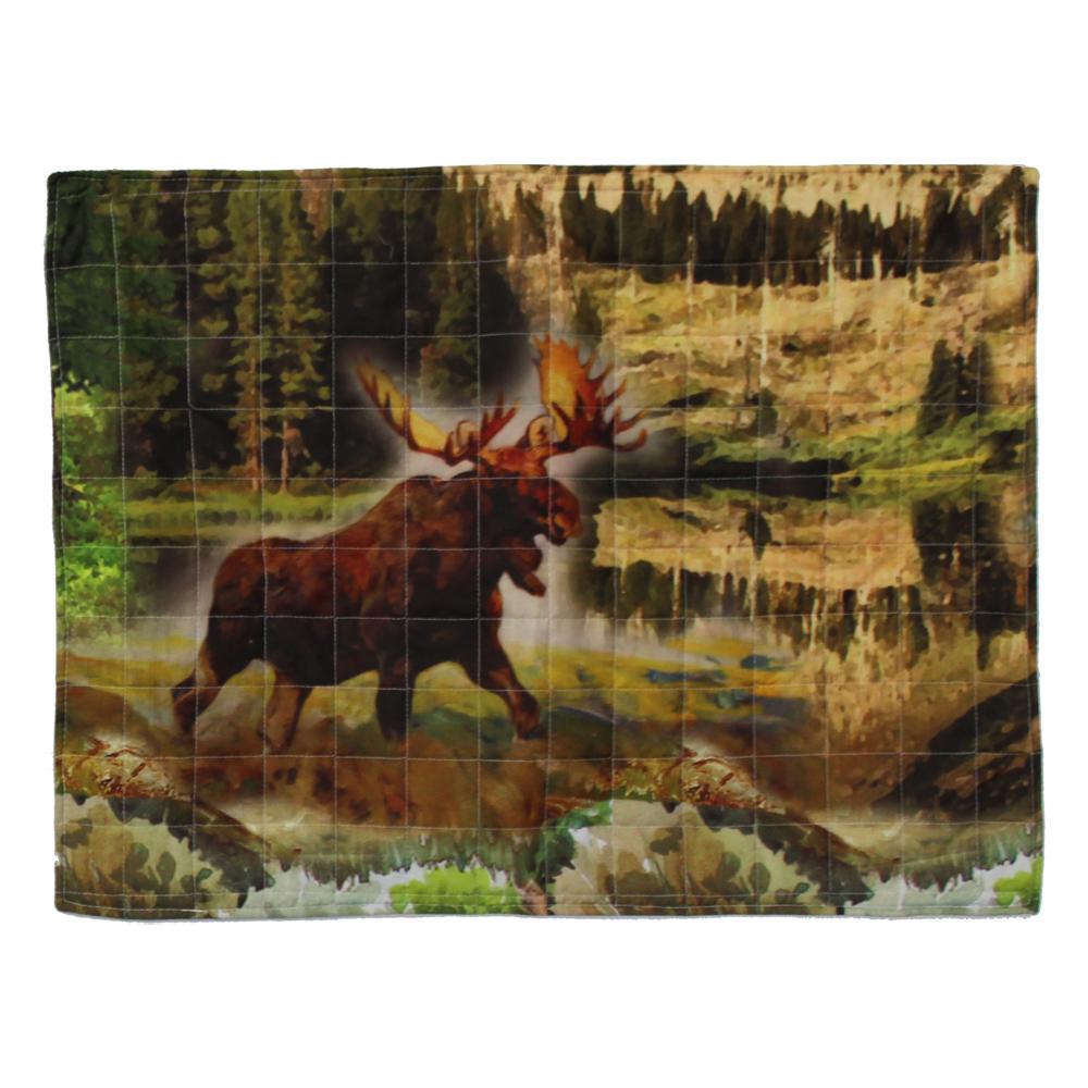 """Wilderness Galore, Moose Pillow Sham 27""""W x 21""""L"""