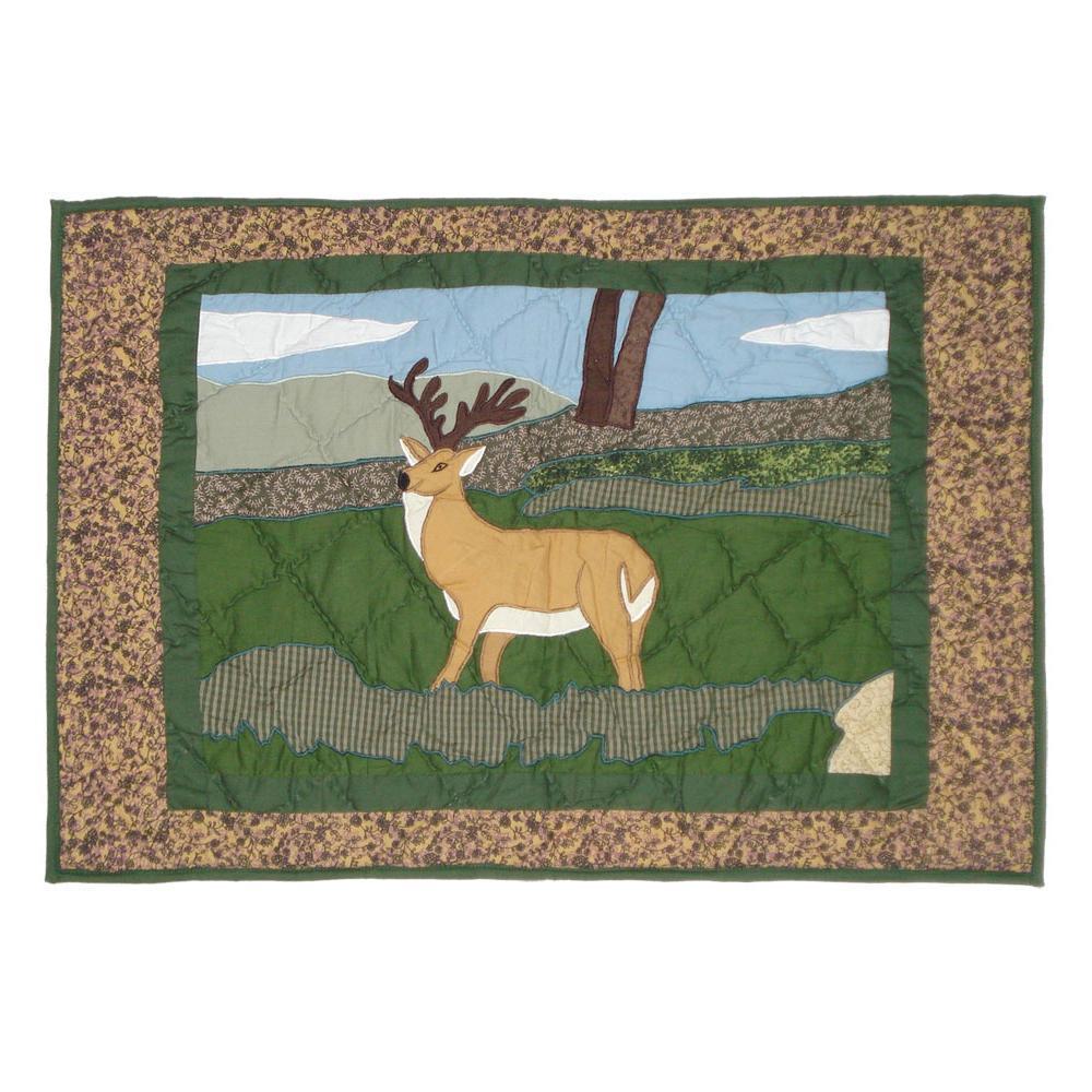 """Wilderness Deer Pillow Sham 27""""W x 21""""L"""