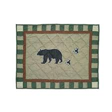"Bear Trail Bear Pillow Sham 27""W x 21""L"