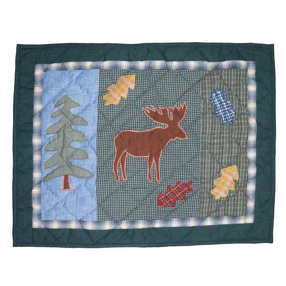 "Northwoods Walk Moose Pillow Sham 27""W x 21""L"