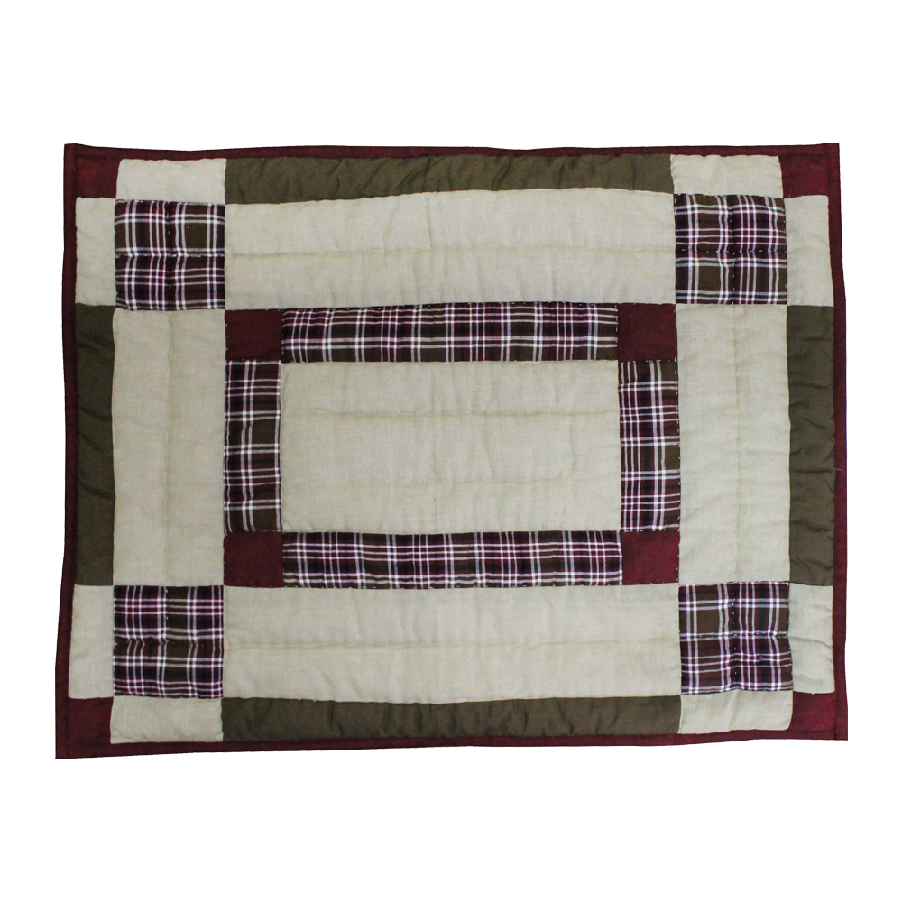 "White Tails Patchwork Pillow Sham 27""W x 21""L"