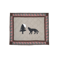 "Wolf Trail, Wolf, Pillow Sham 27""W x 21""L"