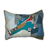 "Airplane Sortie Pillow Sham 27""W x 21""L"
