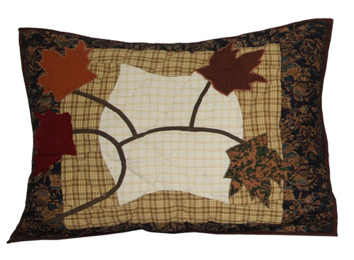 "Autumn Leaves Pillow Sham 27""W x 21""L"