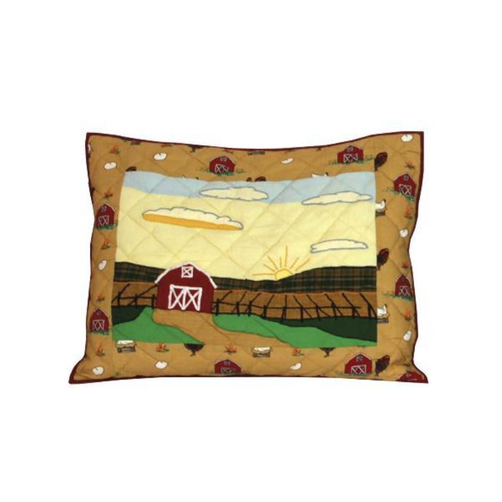 "Barnyard Animals Pillow Sham 27""W x 21""L"