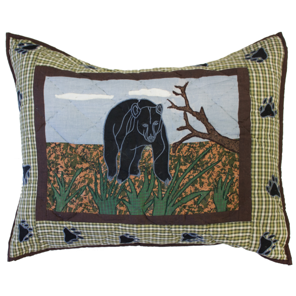 "Bear Country Pillow Sham 27""W x 21""L"