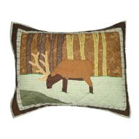 "Brown Elk Pillow Sham 27""W x 21""L"