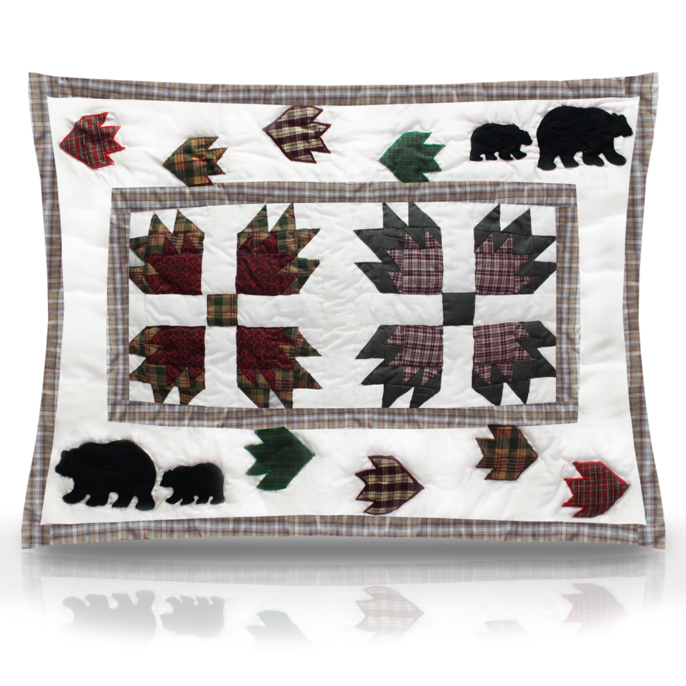 "Bear's Paw Pillow Sham 27""W x 21""L"
