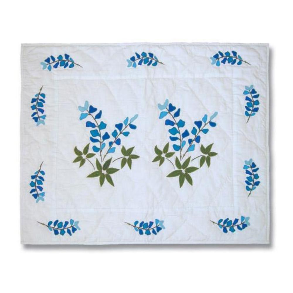 """Blue Bonnets Pillow Sham 27""""W x 21""""L"""
